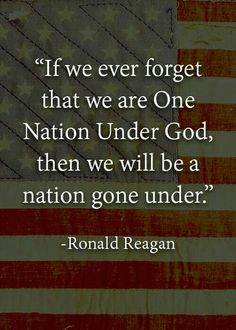 So very important! God is our king; our ruler. We listen to him. Our nation is UNDER him and if we are not under God then we are no nation at all.