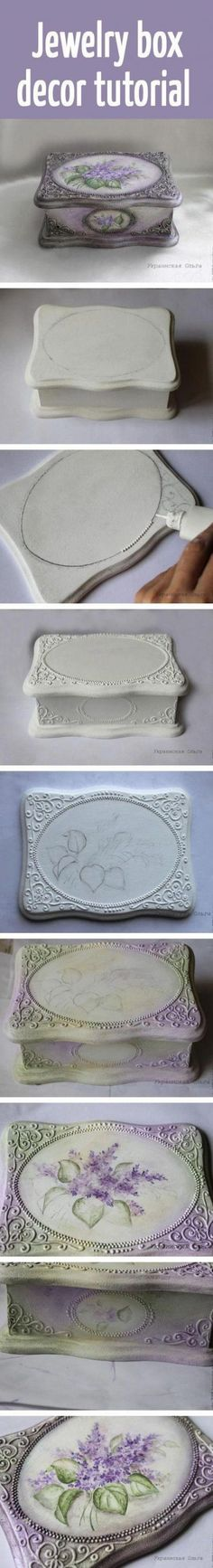 DIY Jewelry Box Ideas # Diy (Schmuckschatulle) # Ideas # Jewelry Box - Diet Plan - Make Up Brush Cleaner - DIY Jewelry Box - Hair Color Hair Styles - Hygge Home Inspiration Jewellery Boxes, Jewellery Storage, Jewelry Hooks, Hand Jewelry, Jewelry Holder, Unique Jewelry, Jewelry Box Plans, Decoupage Box, Vintage Diy