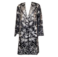 1920's Black & White Silk Chinese Embroidered Coat   From a collection of rare vintage coats and outerwear at http://www.1stdibs.com/fashion/clothing/coats-outerwear/