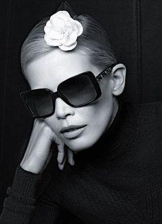 4a04d310724dc Chanel Prestige Eyewear campaign starring Claudia Schiffer Beaux Yeux