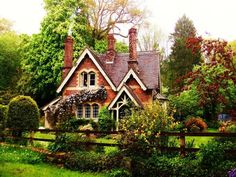 """witchscottage: """" Fairytale cottage, south England by ylana lovel """" - Country Haus // Cottage - Urlaub Small Cottage Homes, Cozy Cottage, Cottage Living, Cottage Style, Cottage House, Cottage Design, Brick Cottage, Small English Cottage, English Cottage Exterior"""