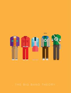 #Design_Inspiration | Brazil-based Illustrator Frederico Birchal has created a series of minimalistic posters featuring the costumes of popular movies and TV shows | #Big_Bang_Theory
