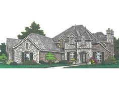 European House Plan with 3668 Square Feet and 4 Bedrooms from Dream Home Source | House Plan Code DHSW076889