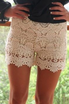lacy shorts, i finally found a pair at Urban Outfitters!