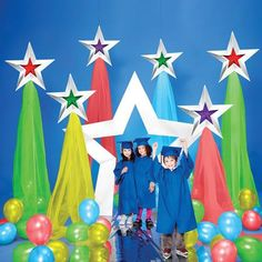 Primary Color Shining Stars Prop Set