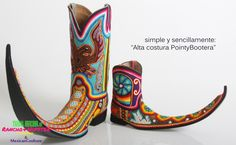 Rancho Hipster Mexican Pointy Boots Ebay Pictures