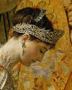 Jacques-Louis David The Coronation of Napoleon (detail of Josephine) 1807