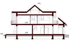 Przekrój DN Modena CE Home Building Design, Building A House, House Design, Family House Plans, Dream House Plans, Beautiful Home Designs, Beautiful Homes, Beautiful Places, House Construction Plan