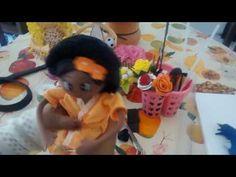 Cabelo Black Power em EVA boneca porta papel higiênico - YouTube