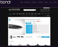"""SPYCATCHER ONLINE ~ Since the products are updated frequently a bespoke Matrix of """"Featured Products"""" was built to enable a number of different combinations on the home page giving the client full flexibility. Recording Equipment, Bespoke, Flexibility, Number, Products, Taylormade, Back Walkover, Gadget"""