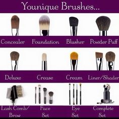 Good quality brushes are essential for great makeup application!