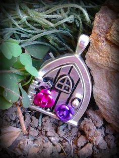 Rosy Fairy Door Pendant by ArtbyStarlaMoore on Etsy, $30.00