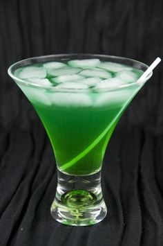 Tropical Leprechaun Drink: Coconut Rum, Blue Curacao Liqueur, Melon Liqueur (such as Midori), Pineapple Juice