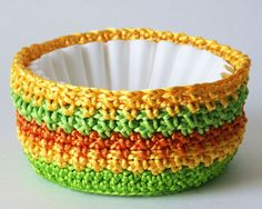 Crochet coffee filter basket** what a great idea!!! Great share!**
