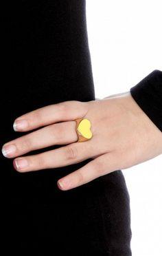 Trending gold heart rings via Heart Rings, Gold Heart Ring, Valentine Day Special, Druzy Ring, Women, Women's, Heart Ring
