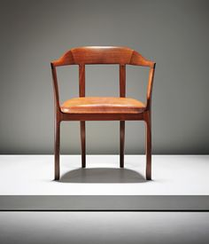 Ole Wanscher; Mahogany and Leather Armchair for A.J. Iversen, c1958.