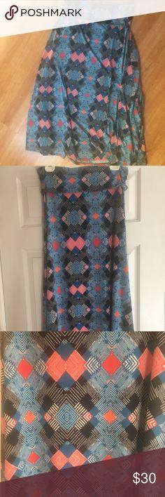 LuLaRoe maxi skirt size M Geometric pattern LuLaroe maxi skirt LuLaRoe Skirts Maxi
