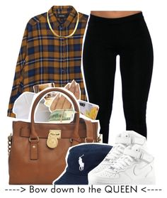 """""""I think it's the O'dog shirt ?"""" by x-gladys-x ❤ liked on Polyvore featuring Monki, Burberry, Wet Seal, Michael Kors, Ralph Lauren and NIKE"""