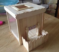 Perfect house for hamster! Or upsize it to become a rabbit dig box