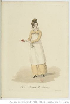 Servante de Traiteur from Georges-Jacques Gatine, Costumes d'ouvrières parisiennes, 1824, BNF Paris