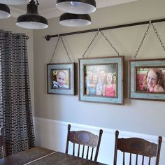 Iron Pipe Family Photo Display