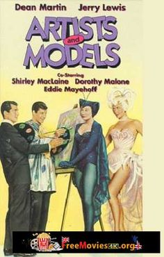 Shirley MacLaine, Jerry Lewis, Dean Martin, and Dorothy Malone in Artists and Models Martin Movie, Dean Martin, Comedy Duos, Sound Film, Abbott And Costello, Shirley Maclaine, Jerry Lewis, Artists And Models, Old Hollywood Stars