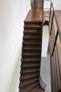 Meer dan 1000 idee n over trap leuning op pinterest trapleuningen trappen en leuningen - Model interieur trap ...