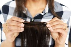 If you have clip-in hair extensions with only one clip each, you can start with two wefts for the first section of hair. Space the clips about two inches apart.