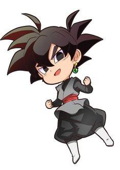 Kawaiii Chibi Black by lovecloverbear Goku Chibi, Anime Chibi, Anime Art, Dragon Ball Gt, Art Gundam, Dbz, Goku 2, Illustration Studio, Couples Anime