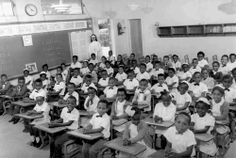 Sister Concetta Melton, Oblate Sisters of Providence, with her 1964 class of fifty seven first grade students at Holy Redeemer School in Miami, Florida. #HistoryNun #NCSW http://oblatesisters.com