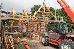Douglas fir timber frame; the trials and tribulations of a raising