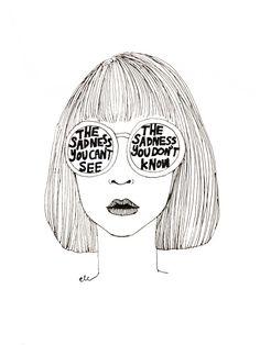 line drawing - illustration Tumblr Drawings, Sad Drawings, Drawn Art, Pics Art, Grafik Design, Art Plastique, Line Drawing, Art Inspo, Art Photography