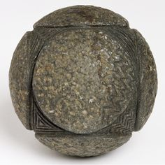 carved neolithic stones -Carved stone ball, found at Alford, Aberdeenshire, Late Neolithic, around 3200