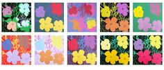 Auctioned off through Catawiki: Andy Warhol, Flowers - complete set of 10 screen prints - Bluegrass edition, 200 copies