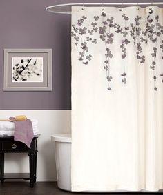 Lush Decor Lillian Purple Shower Curtain by Lush Decor   LUSH ...