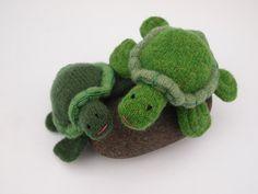 Turtle, toy, waldorf, wool. via Etsy.