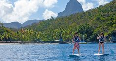 """Watersports at Anse Chastanet Resort, St. Lucia....paddle boarding is on my """"things to do together"""" list, P."""