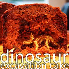 Dinosaur excavation cake - yummy and fun idea!