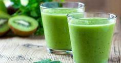 Recette de Smoothie anti-cellulite au thé vert, kiwis et citron . Facile et rapide à réaliser, goûteuse et diététique.