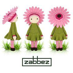 gerbera flower #crochet doll pattern