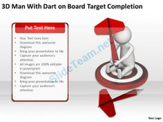 3D Man with Dart on Board Target Completion Ppt Graphics Icons Powerpoint #Powerpoint #Templates #Infographics
