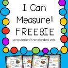 FREE! Practice measuring with different standard and non-standard measures.