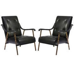 "Pair of ""Bamboo"" Armchairs"