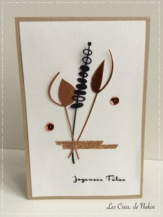 En ce deuxièmeWE de l'Avent (oui oui le deuxième, le 1er était bien la semaine dernière, 4 WE avant Noël), peut être êtes vous en train de préparer des petits sablés de Noël qui embaument vo… Making Greeting Cards, Greeting Cards Handmade, Beautiful Handmade Cards, Pretty Cards, Flower Cards, Creative Cards, Anniversary Cards, Scrapbook Cards, Note Cards