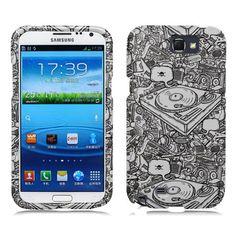 Samsung Galaxy Note 2 Case DJ Rubberized HardPhone by NuceNuce