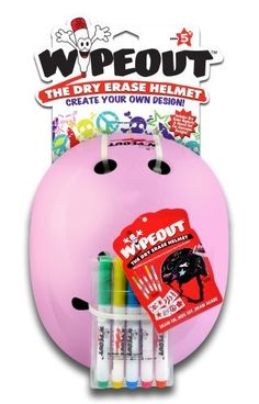 Wipeout Dry Erase Helmet, Pink, Small/3+ Years by Wipeout, http://www.amazon.com/dp/B00BIVLRJI/ref=cm_sw_r_pi_dp_cLx0rb1C65WJF