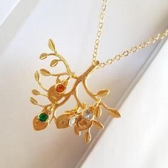 Mothers Day Gift Ideas Grandma necklace Birthstone necklace Birthstone Jewelry Family Tree necklace for Mom Gift unique personalized gifts Initial Necklace Gold, Initial Jewelry, Mom Jewelry, Jewelry Gifts, Leaf Necklace, Mother Day Gifts, Gifts For Mom, Family Tree Necklace, Perfume
