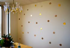 DIY Confetti Wall art from Dec 2012 http://www.betweenheandshe.com/diy-confetti-wall-art/