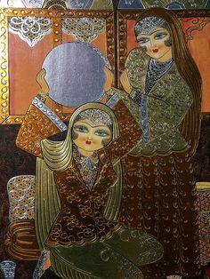 Persian Art Modern Art, Contemporary Art, Persian Beauties, Persian Calligraphy, Persian Culture, Iranian Art, Objet D'art, Islamic Art, Art World