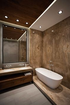 Copper House in Kiev by OM Architecture – Badezimmer einrichtung Bathroom Tile Designs, Bathroom Design Luxury, Home Interior Design, Bathroom Ideas, Bathroom Goals, Bathroom Organization, Copper House, Diy Bathroom Remodel, Suites